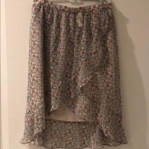 NWT Madewell floral chiffon ruffle skirt SZ 8